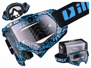 GOGLE IMX MUD GRAPHIC BLUE/BLACK / SZYBA CLEAR