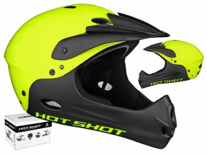 KASK AUTHOR HOT SHOT YELLOW FULL FACE / 58-62 CM