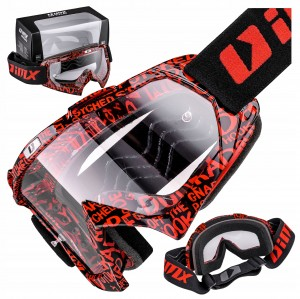 GOGLE IMX MUD GRAPHIC RED/BLACK / SZYBA CLEAR