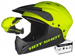 KASK AUTHOR HOT SHOT X9 YELLOW FULL FACE 52-54 CM